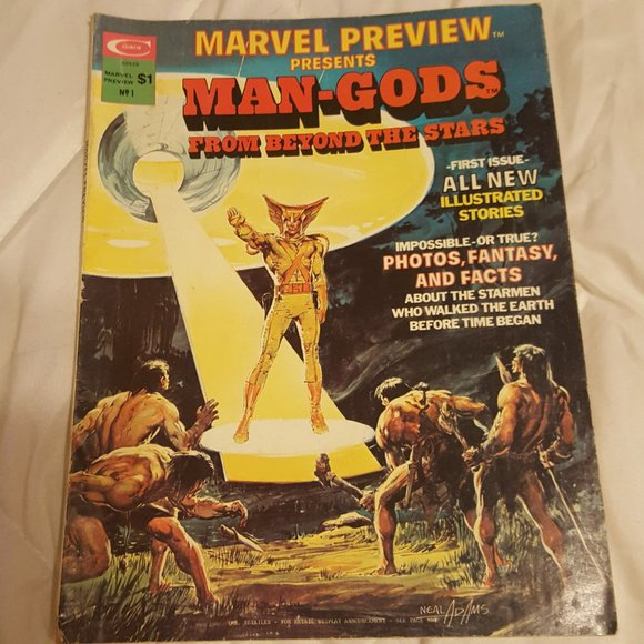Marvel Other - Vintage 1975 MARVEL PREVIEW #1 MAGAZINE MAN-GODS